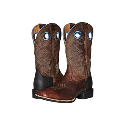 Ariat Heritage Cowhorse (Bar Top Brown/Woodsmoke) Cowboy Boots