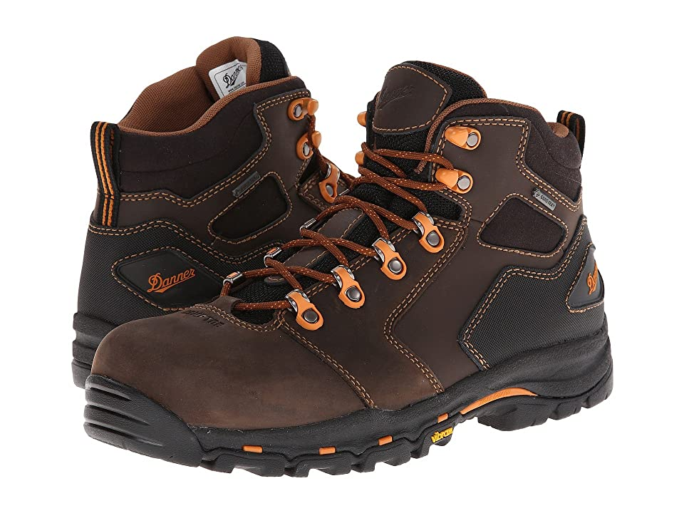 Danner Vicious 4.5 Non-Metallic Safety Toe (Brown/Orange) Men
