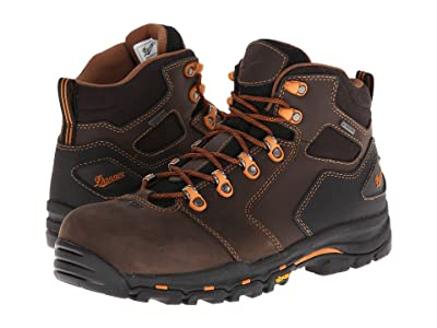 Danner Vicious 4.5 Non-Metallic Safety Toe (Brown/Orange) Men