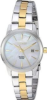 Citizen Women's ' Quartz Stainless Steel Casual Watch, Color:Two Tone (Model: EU6074-51D)