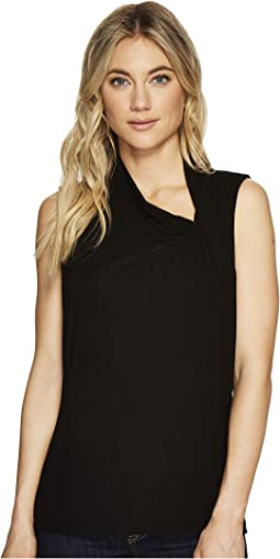 Michael Stars - Jersey Lycra Sleeveless Asymmetrical Drape Top