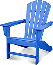 product image for POLYWOOD HNA10-PB Palm Coast Adirondack Chair, Pacific Blue