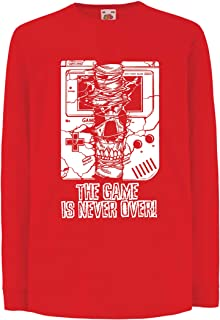 lepni.me Kids T-Shirt The Game is Never Over - Funny Video Games Gift Top