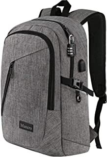 Laptop Backpack, Business Water Resistant Laptops Backpack Gift for Men Women with Lock and USB...