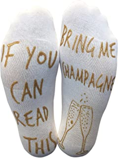 'If You Can Read This Bring Me Champagne' Funny Ankle Socks