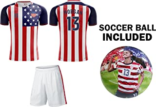Team USA World Cup 2018 United States Youth Soccer Jersey + Shorts + Soccer Ball - Pick Any Name