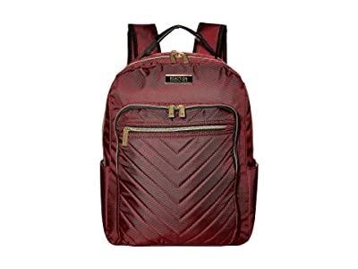 Kenneth Cole Reaction Polyester Twill Chevron Backpack (Burgundy) Backpack Bags