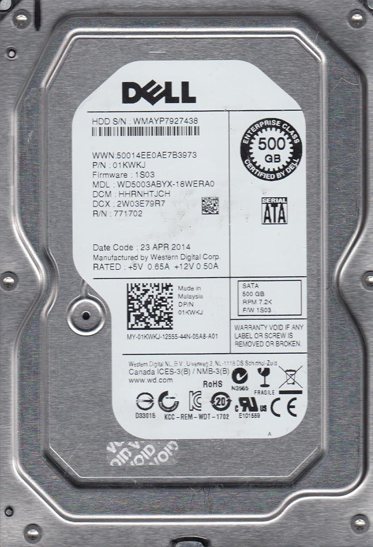 WD5003ABYX-18WERA0, DCM HHRNHTJCH, Dell 500GB SATA 3.5 Hard Drive