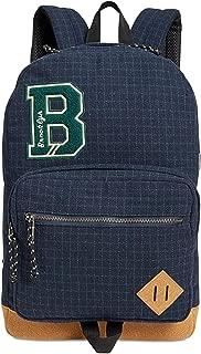 Steve Madden Men's Flannel Plaid Backpack Navy