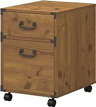 kathy ireland Home by Bush Furniture Ironworks 2 Drawer Mobile File Cabinet in Vintage Golden Pine