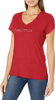 Nautica Women's Easy Comfort Supersoft 100% Cotton Classic Logo T-Shirt