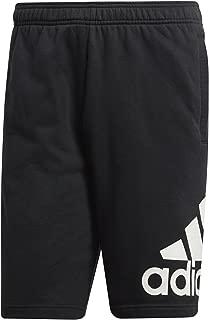 adidas Men's French Terry Short (Medium, Black)
