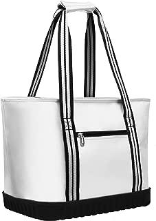 VIGBAGNIA Cooler Bag Insulated 30-Can Soft Sport Tote Bag Fodable Snapbasket