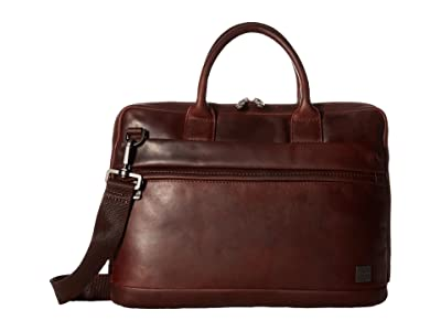 KNOMO London Barbican Foster Laptop Briefcase (Brown) Briefcase Bags