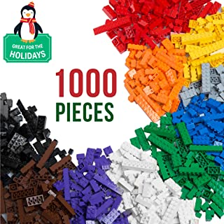1000 Piece Building Bricks Set- 10 Classic Colors...