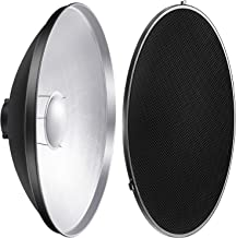 Neewer Photo Studio Strobe Flash Light Reflector Beauty Dish with Honeycomb Grid and Scrim, 21.6 inches/55 centimeters for Bowens Gemini Standard, R, RX Strobe and More
