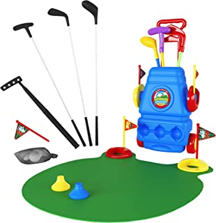 Toy Golf Clubs Set Bundle with Mini Golf Putter and Green Mat, Kids Unbreakable Golf Clubs, Balls and More ― Toys for 3 Year Old Boys and Girls, Outdoor and Learning Toys ― for Toddlers and Juniors