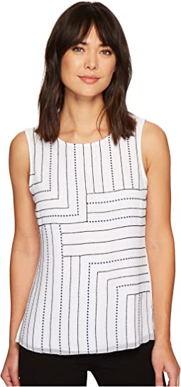 NIC+ZOE - Blue Line Tank Top