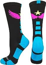 MadSportsStuff Light Speed Athletic Crew Socks (Multiple Colors)