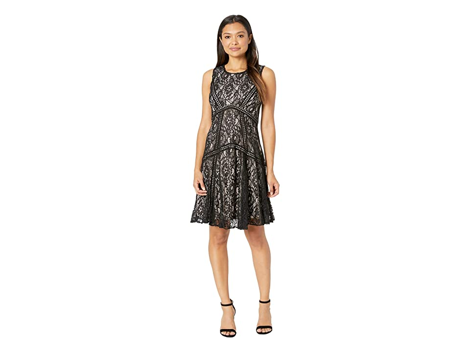 Taylor Sleeveless Lace Cocktail Dress (Black) Women