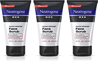 Neutrogena Men Exfoliating Razor Defense Daily Shave Face Scrub, Conditioning Facial Cleanser for Smoother Skin & Less Raz...