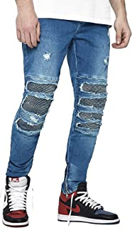 Cayler & Sons Men Jeans ALLDD Inverted Biker Ian, Size:30/32, Color:mid Blue