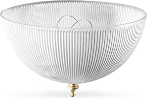 """OhLectric OL-39155 Clip On Lamp Shade - Acrylic, Prismatic & Dome-shaped Bulb Shade - Transforms Light Bulbs Into Fixture - Suits Medium Base, A-shape Bulb - 4""""x 8"""" Decorative Dome Cover, Single Pack"""