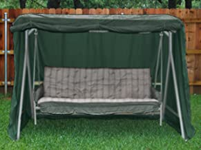 Covermates – Canopy Swing Cover – 86W x 50D x 70H – Classic – 12-Gauge Vinyl – Rustproof Zipper and Grommets – Mesh Vent for Breathability – 2 YR Warranty – Weather Resistant - Green