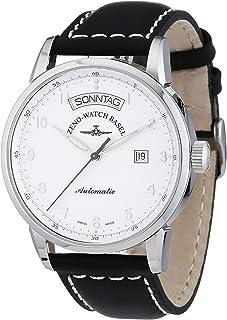 Zeno Watch Basel - Magellano 6069DD-e2 - Reloj de Caballero automático, Correa de Piel Color Negro