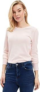 DeFacto Regular fit shirt met lange mouwen en ronde hals voor