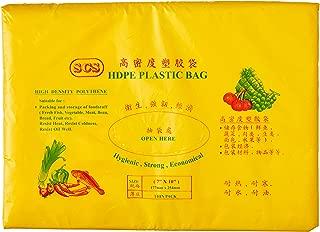 """Alpak Disposable HDPE Transparent Plastic Bag 7"""" x 10"""","""