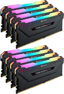 Corsair VENGEANCE RGB PRO 256GB (8x32GB) DDR4 3000 (PC4-24000) C16 Desktop memory – Black (CMW256GX4M8D3000C16)