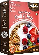 Alpino Super Muesli Fruit & Nuts 400 G | 100% Whole Oats & Whole Grain | Finest Nuts & Raisins | Real Freeze-Dried Fruits | No Sugar Infused Fruits