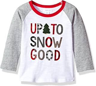 Mud Pie Baby Boys' Toddler Christmas Long Sleeve Raglan T-Shirt