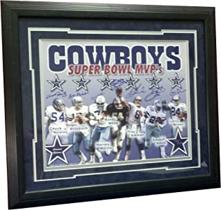 Dallas Cowboys, Super Bowl MVP's, Chuck Howley, Roger Staubach, Harvey Martin, Randy White, Troy Aikman, Emmitt Smith, Larry Brown Signed, Limited Edition 171/250, 16x20, Photograph, Charity Sports Distributor Certified