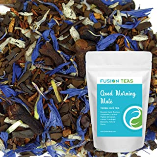Good Morning Yerba Mate - Chocolate Chai Mate with Rooibos and Coconut - Gourmet Loose Leaf Tea and Coffee Substitute - 5 Oz. Pouch