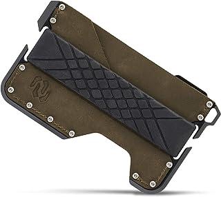 Rango Elegance: Cartera Tarjetero Hombre Minimalista de Piel y Metal (Aluminio) con Protección Antirrobo (Bloqueo RFID/NFC...