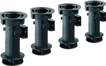 / longitud: 700//730/mm aspecto de acero inoxidable 4/unidades //–/Pie para muebles, mesa soporte Capacidad de Carga: 100/kg de acero Hettich 9219875/pata de mesa de juego /Altura regulable