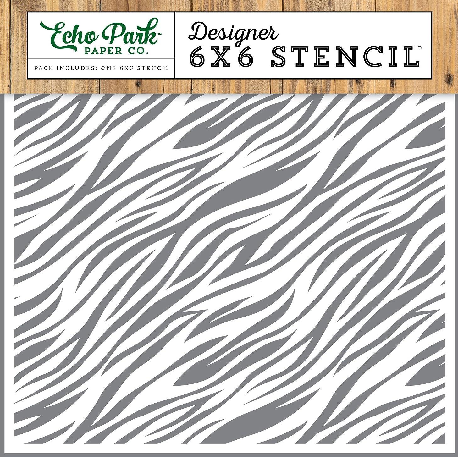 Echo Park Paper Company Zebra Jungle Safari Stencil