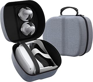 Hard Travel Carry Case for Oculus Quest 2, KIWI design Protection Case Accessories for Gaming Headset and Controllers (Gray)