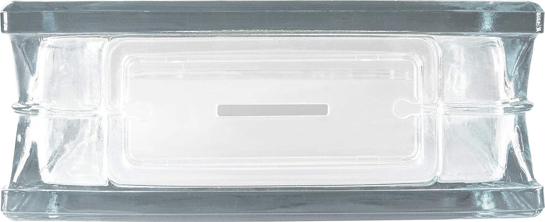 Deko Geldgeschenk Vollsicht 14,5x14,5x8 cm Vase Fuchs Deko Glasstein mit /Öffnung und M/ünzschlitz als Spardose
