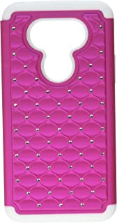 Asmyna Cell Phone Case for LG G5 - Retail Packaging - Pink/White