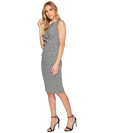 Adrianna Papell Spotted Stretch Jacquard Sheath Dress Ivory/Black Outlet Cheap Online Cheap Sale Buy Free Shipping Authentic OM45H