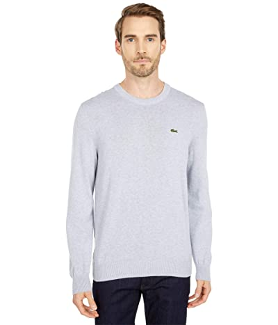 Lacoste Long Sleeve Crew Neck Sweater (Silver Chine) Men