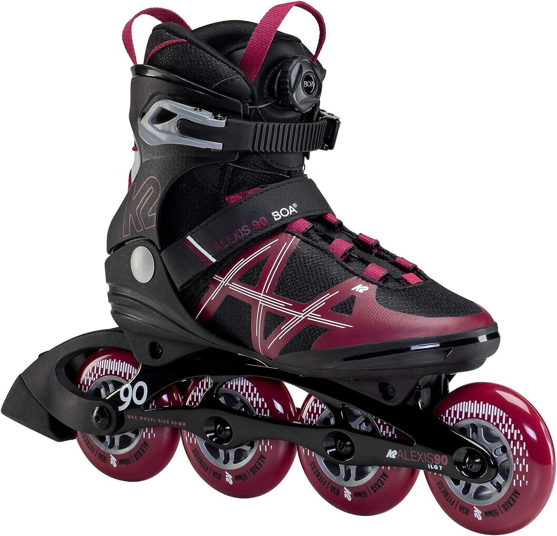 K2 Skate Women's Alexis Skates 最新号掲載アイテム セール特価 Boa Inline 90