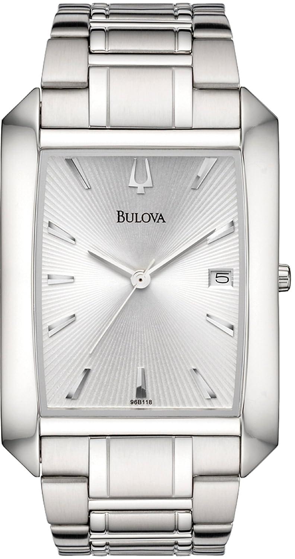 Bulova Men's 96B118 Bracelet Silver Dial Watch mwmjzk3374494
