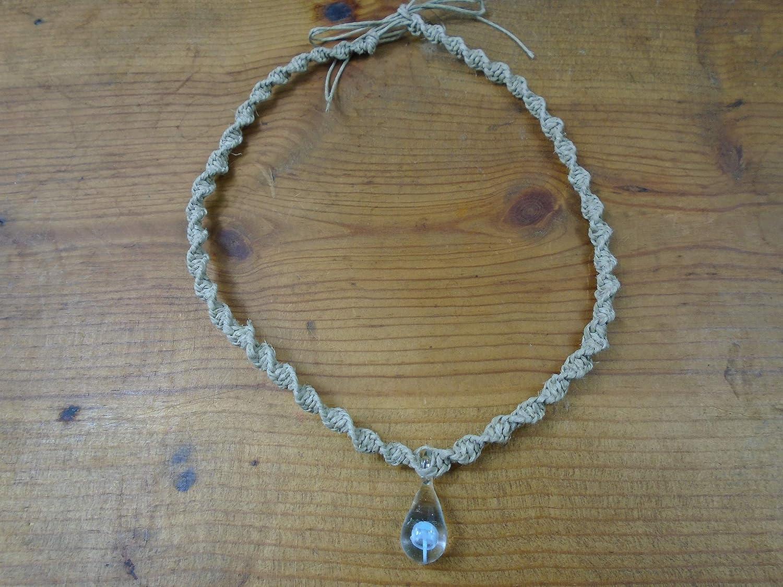 BEACH HEMP JEWELRY Mushroom All items free shipping Hemp Necklace Max 43% OFF Blue Light Glas Choker