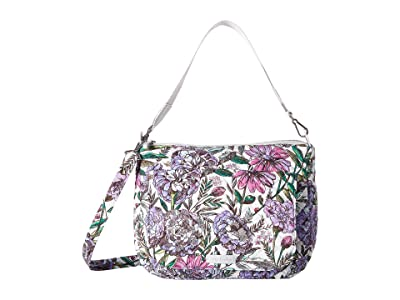 Vera Bradley Carson Shoulder Bag (Lavender Meadow) Shoulder Handbags