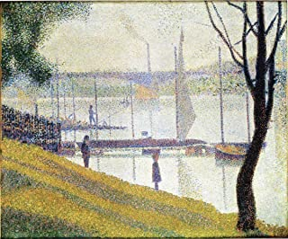 Quality Prints - Laminated 18x15 Vibrant Durable Photo Poster - The Bridge at Courbevoie - Georges Seurat