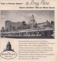 RelicPaper 1950 Roney Plaza Miami Beach: Like a Private Estate, Roney Plaza Print Ad